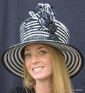 Black and White Striped Year Round Hat