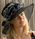 Black Organza  Hat for the Kentucky Derby