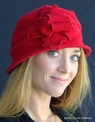 Boiled Wool Women's Cloche Hat