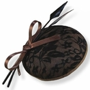 Bronze with Black Lace<br>Fascinator Hat