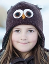 Brown Owl Knit Hat