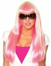 Candy Girl Pink and Cream Long Wig