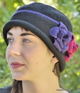 Carraway Floral Wool Cloche