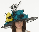 "Christine A. Moore's ""Anisha"" Derby Hat"