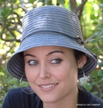 Cloche Hat in Denim Braid