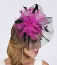 Contrasting Feather Fascinator
