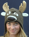 Darby the Deer Knit Pilot Hat<br>by DELUX