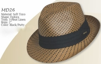 Dorfman-Pacific Toyo Hat<br> Two Tone
