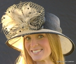 Feather Burst  Hat for the Kentucky Derby