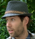 Fedora Hat in Toyo Straw<br>from Scala