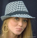 Fedora in Large Print Houndstooth