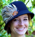 Felt Cloche with Feathers