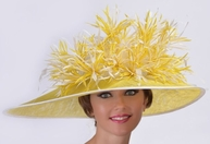 Fireworks Fantasy Feathered Derby Hat