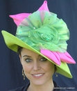 Giant Organza Flower Hat for The Derby