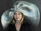 Gold, Silver Metallic Big Brim Hat, Kentucky Derby