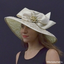 Golden Embroidered Derby Hat
