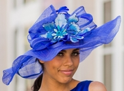 Winning Santa Anita Flowered Hat for the Derby