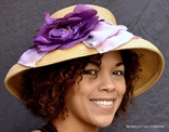 Hand Painted Scarf Sun Hat