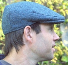 Harris Tweed Cap Blue Heather Ivy (IR08)