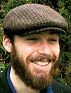 HARRIS TWEED IVY CAP,  HOUNDSTOOTH  (IR13)