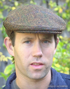 Harris Tweed Scottish Cap, Brown Twill  (IR17)