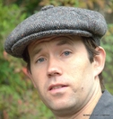 Heavy Weight Irish Wool Gatsby Cap, Grey/Brown  (IR19)