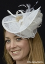 """How Sweet It Is"" Sinamay Fascinator"