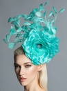 """Ireland"" Aqua Blue Fascinator by Arturo Rios"