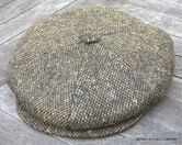 Irish Donegal Heavyweight Newsboy Cap<br>The Gatsby in Olive(IR69) (XXL Only)
