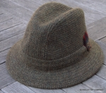 Irish Green Walking Hat, Fancy Barleycorn Weave  (IR82)