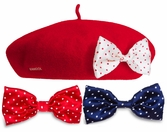 KANGOL Disney Anglobasque Beret<br>With Interchangeable Bows
