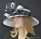 Kentucky Cool Derby Hat in Black and White