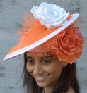 2-tone Layered Pill Box Hat for the Kentucky Derby