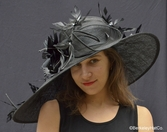 Black Featherdrift Hat for the Kentucky Derby