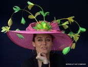 Feather Spray Sinamay Derby Hat
