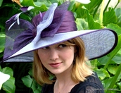 Hat for the Kentucky Derby , sinamay & satin