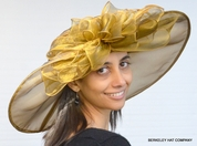 Wide Brim Organza Off the Face Hat for the Kentucky Derby