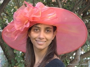 Wide Brim Organza Off the Face<br> Hat for the Kentucky Derby