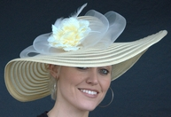 Horse Hair Ribbon Hat with Flower