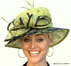 Lace Covered Lime Louisville Derby Hat