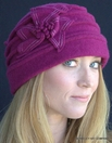 Ladies Boiled Wool Cloche Toque Hat