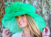 Ladies Derby Glitter Organza Hat