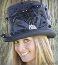 Ladies Fancy Top Hat<br>by Whittall & Shon