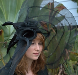 Ladies Horsehair Derby Hat