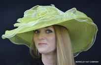 Ladies Spring Derby Hat in Lime