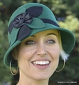 Ladies Winter Cloche Hat, Flower