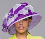 Ladies Two-Tone Downturn Brim Derby Hat