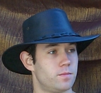 Leather Aussie Hat<br>by Barmah