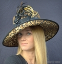 Leopard Print Women's Dress Hat