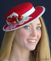 Mini Boater Fascinator Hat